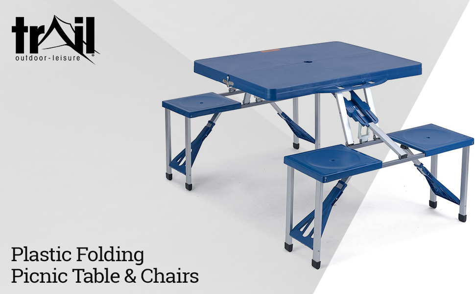 Trail Folding Camping Picnic Table Chairs