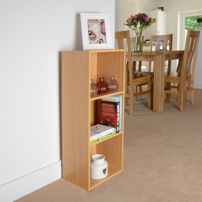 Image of Christow 3 Shelf Wooden Storage Unit (Beech)