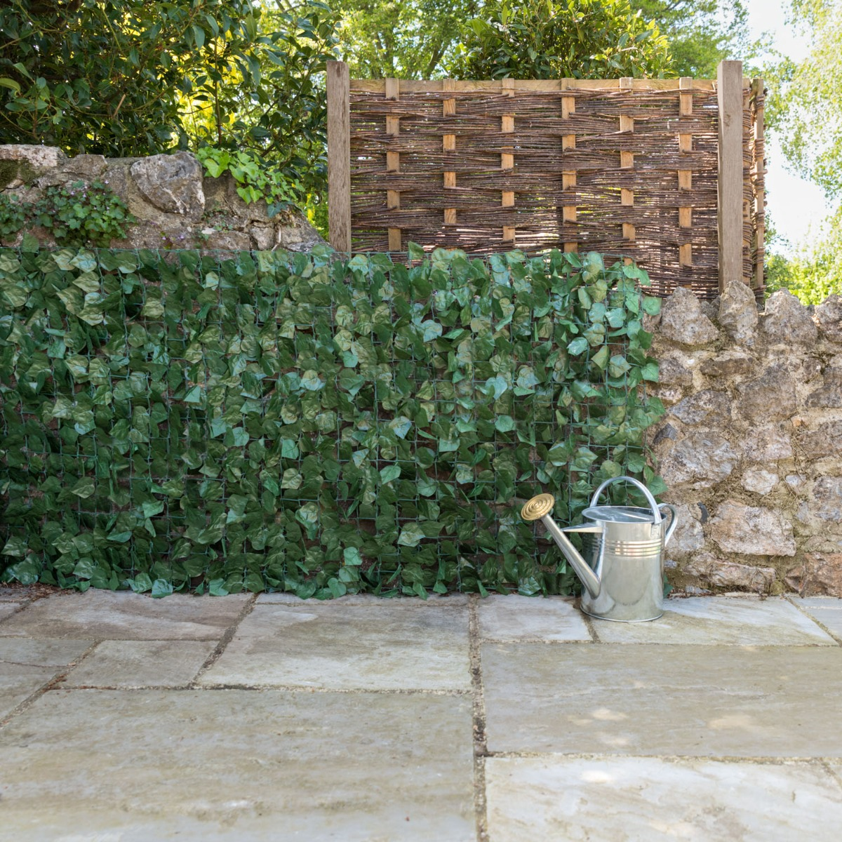 Image of Artificial Ivy Leaf Hedge Roll (1m x 3m)