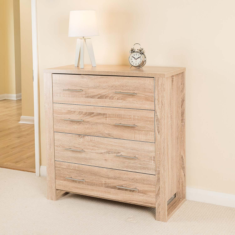 Image of Oak Effect 4 Drawer Cabinet