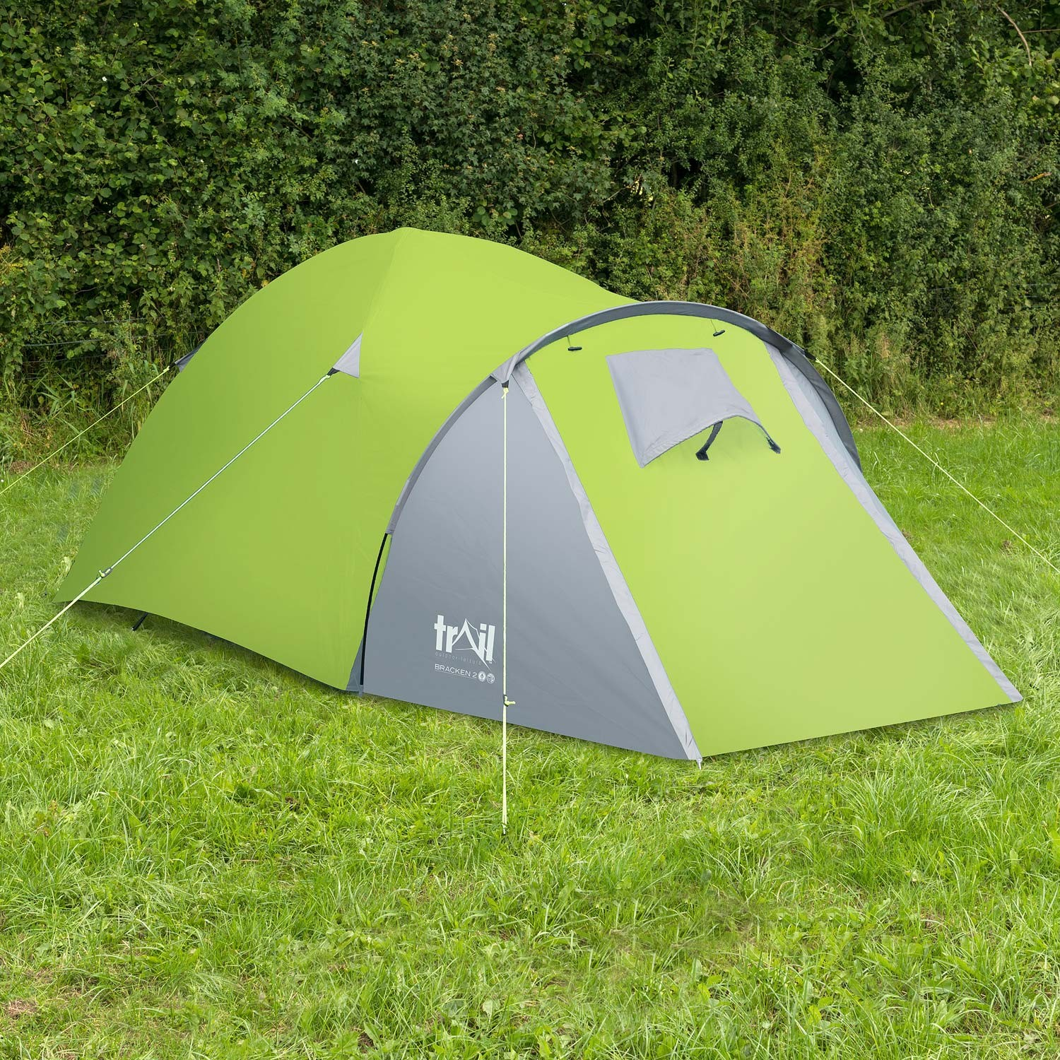 2 Man Tent Double Wall Skin Dome With Porch Two Person Camping Festival Trail