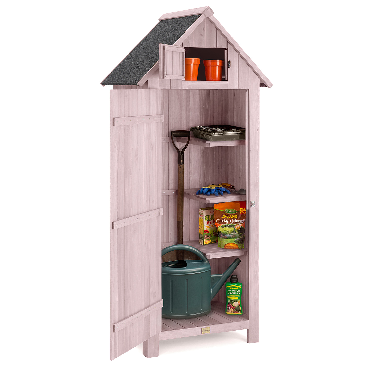 Image of Narrow Garden Shed - Pink