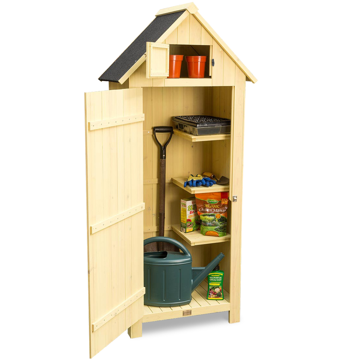 Image of Narrow Garden Shed - Yellow