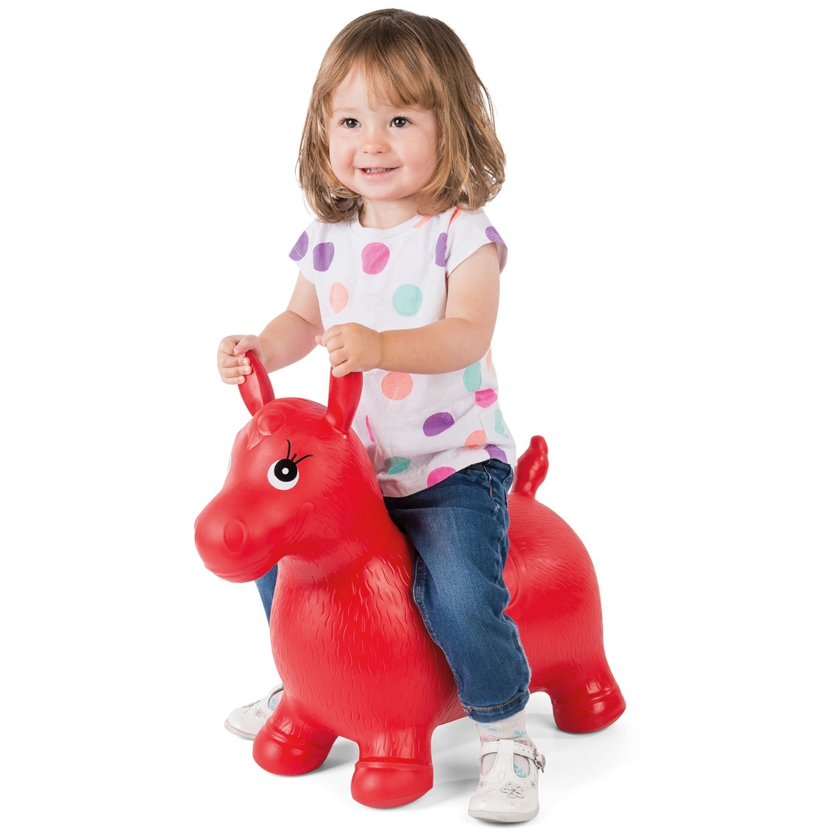 B toys Bouncy Boing BPA Free Hanky the Hippo Inflatable Ride-On Bouncer
