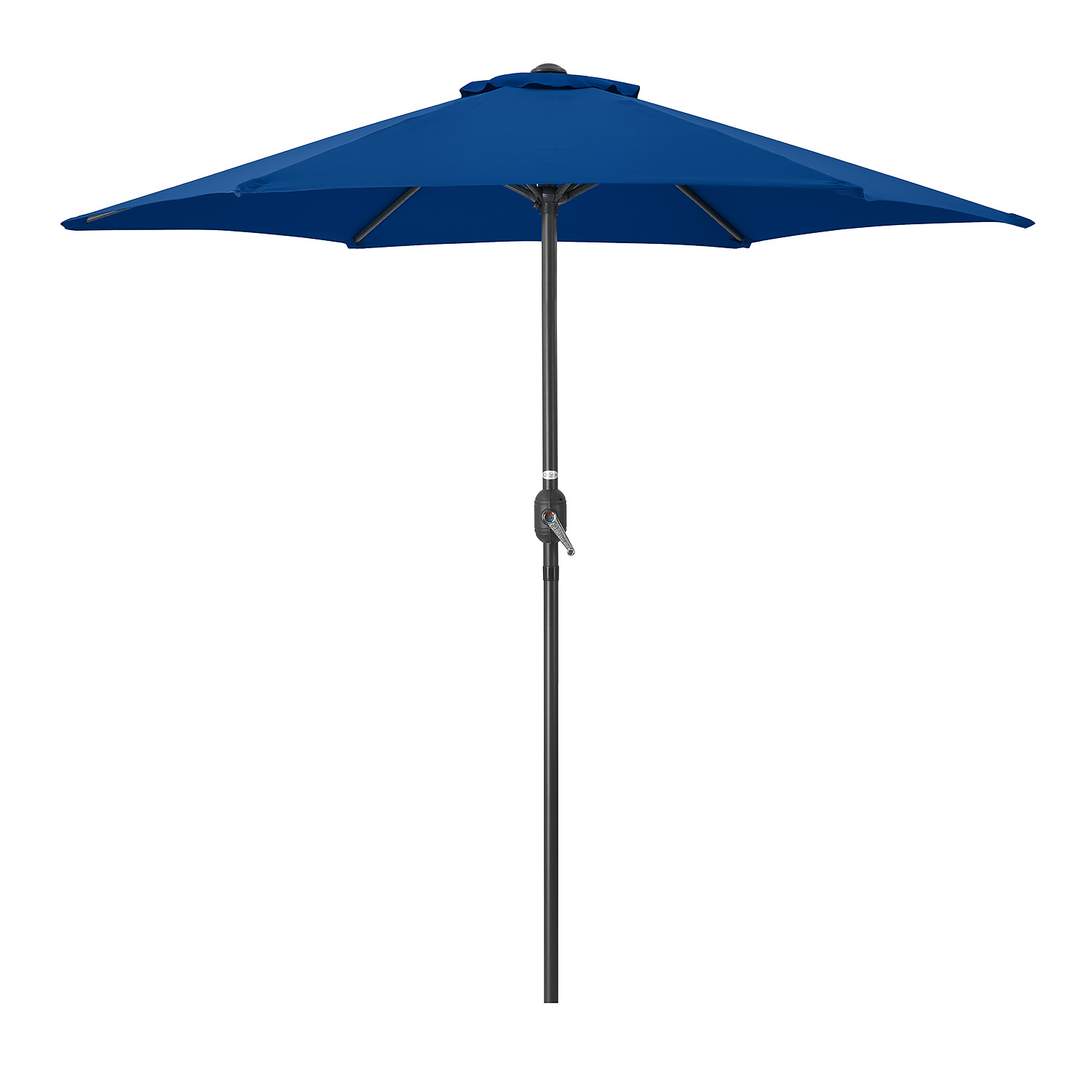 Image of 2.4m Parasol With Crank - Navy