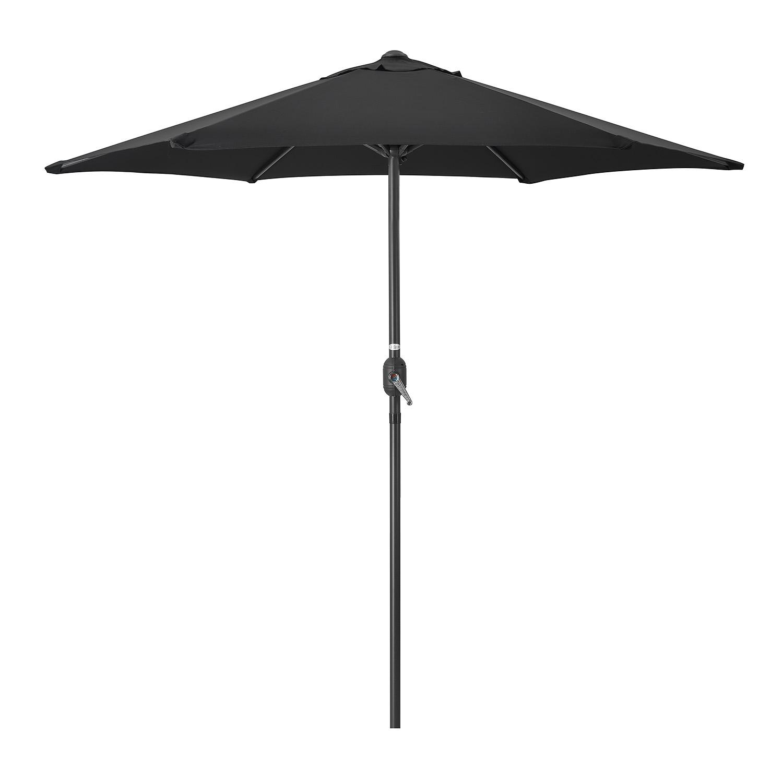 Image of 2.4m Parasol With Crank - Black