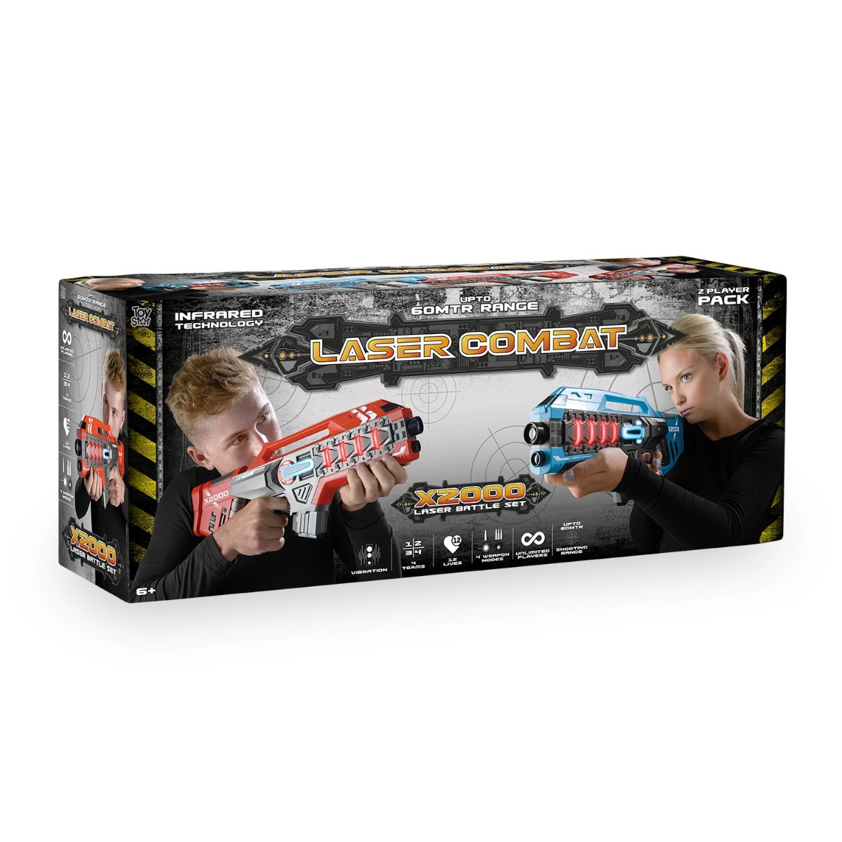 Laser-Tag-Game-Kids-Electronic-2-Blaster-Gun-Battle-Set-60m-Shooting-Range thumbnail 19