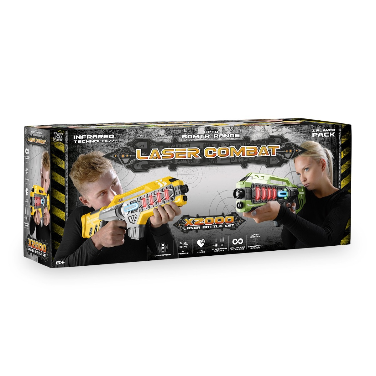 Laser-Tag-Game-Kids-Electronic-2-Blaster-Gun-Battle-Set-60m-Shooting-Range thumbnail 13