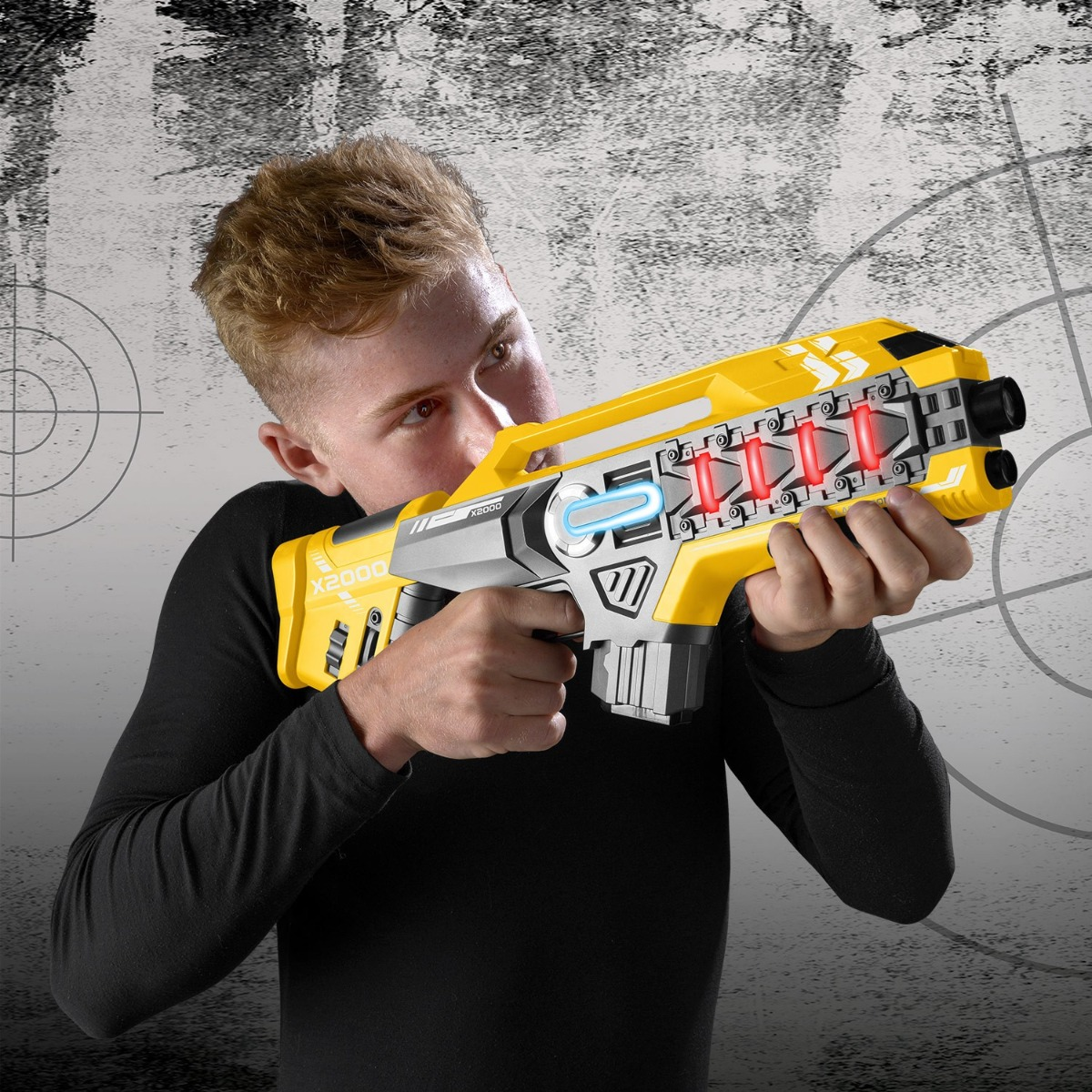 Laser-Tag-Game-Kids-Electronic-2-Blaster-Gun-Battle-Set-60m-Shooting-Range thumbnail 12