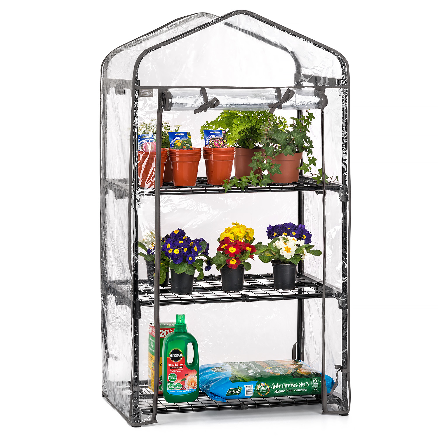 Image of 3 Tier Mini Greenhouse - PVC