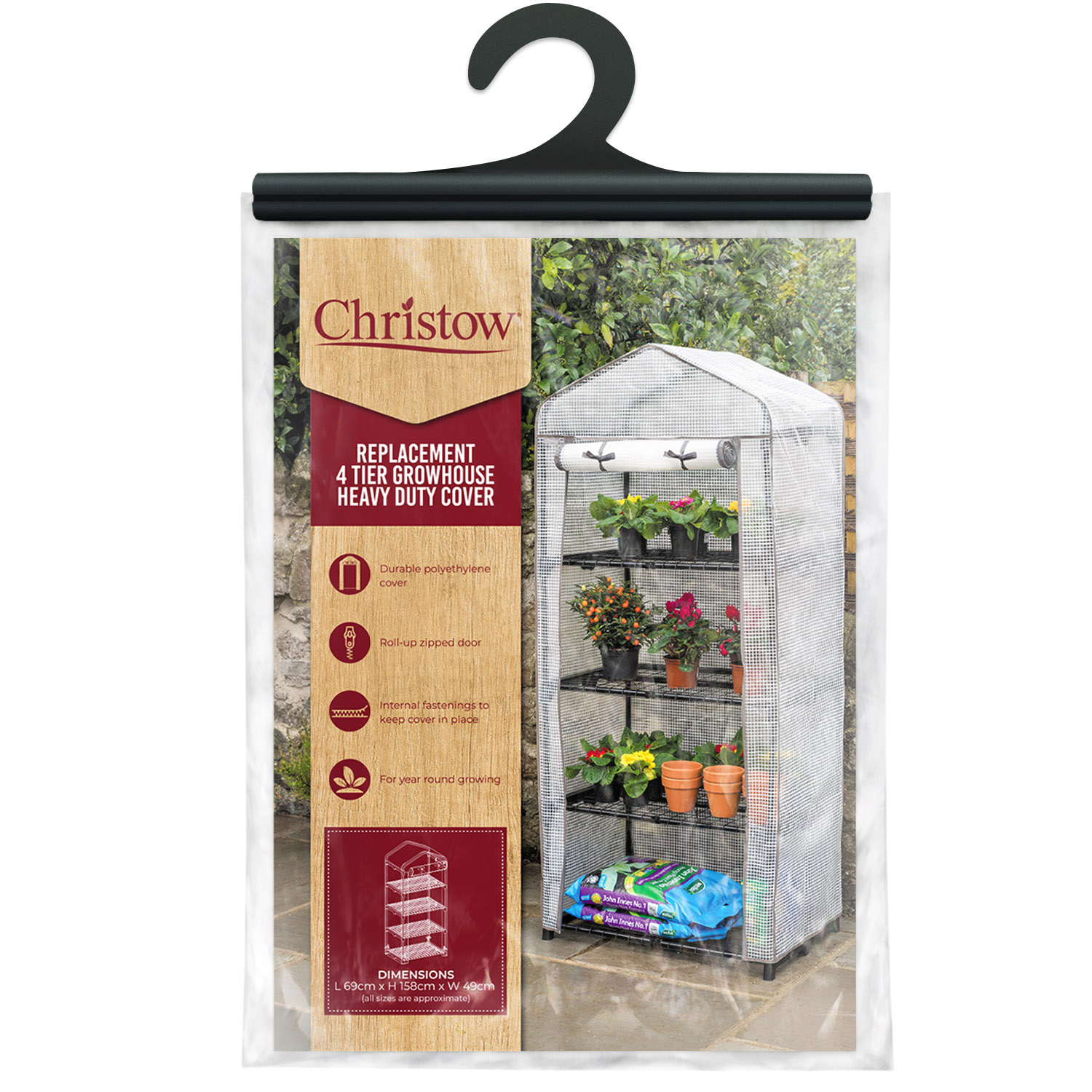 Image of 4 Tier Greenhouse Cover - PE