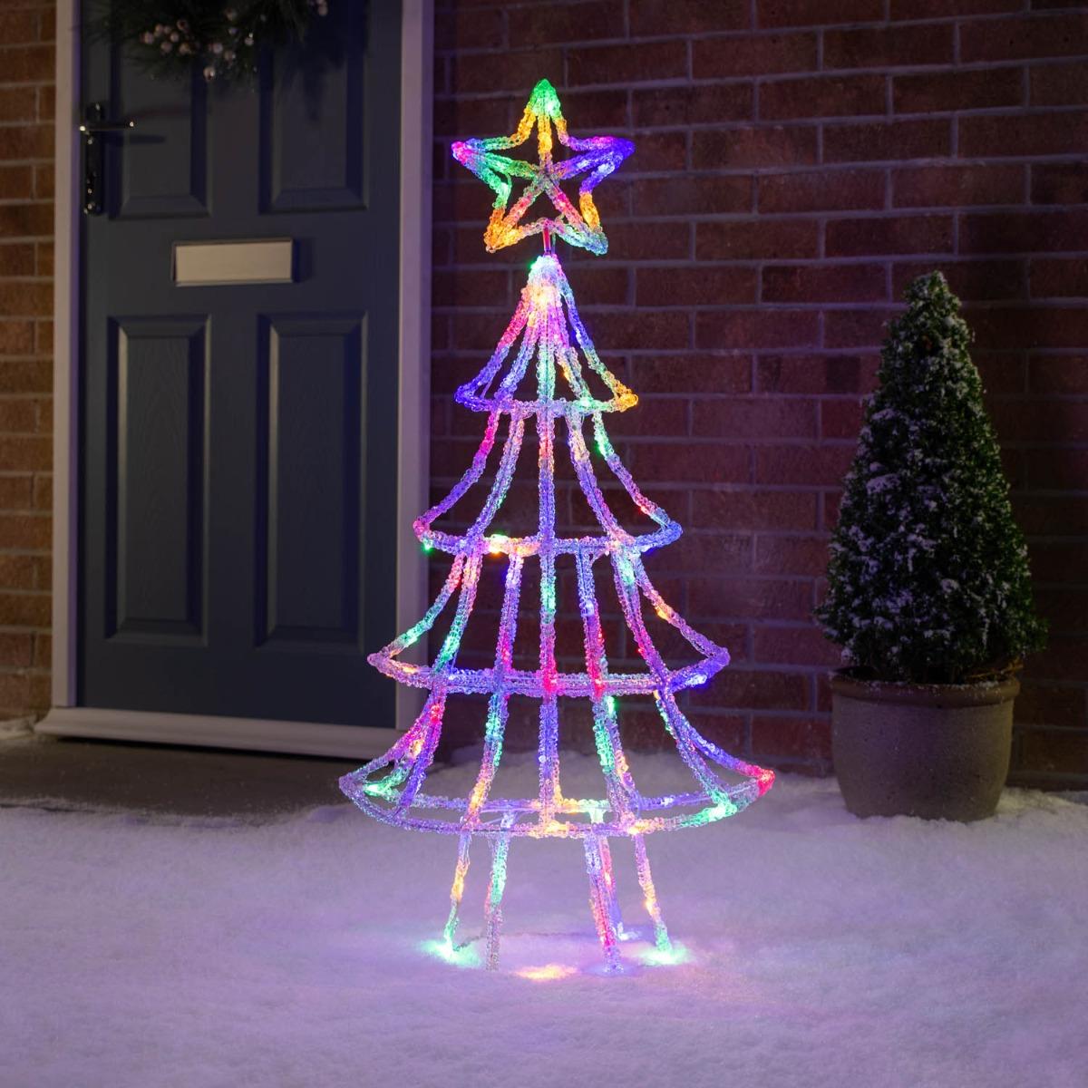 Image of 1m 3D Acrylic LED Christmas Tree