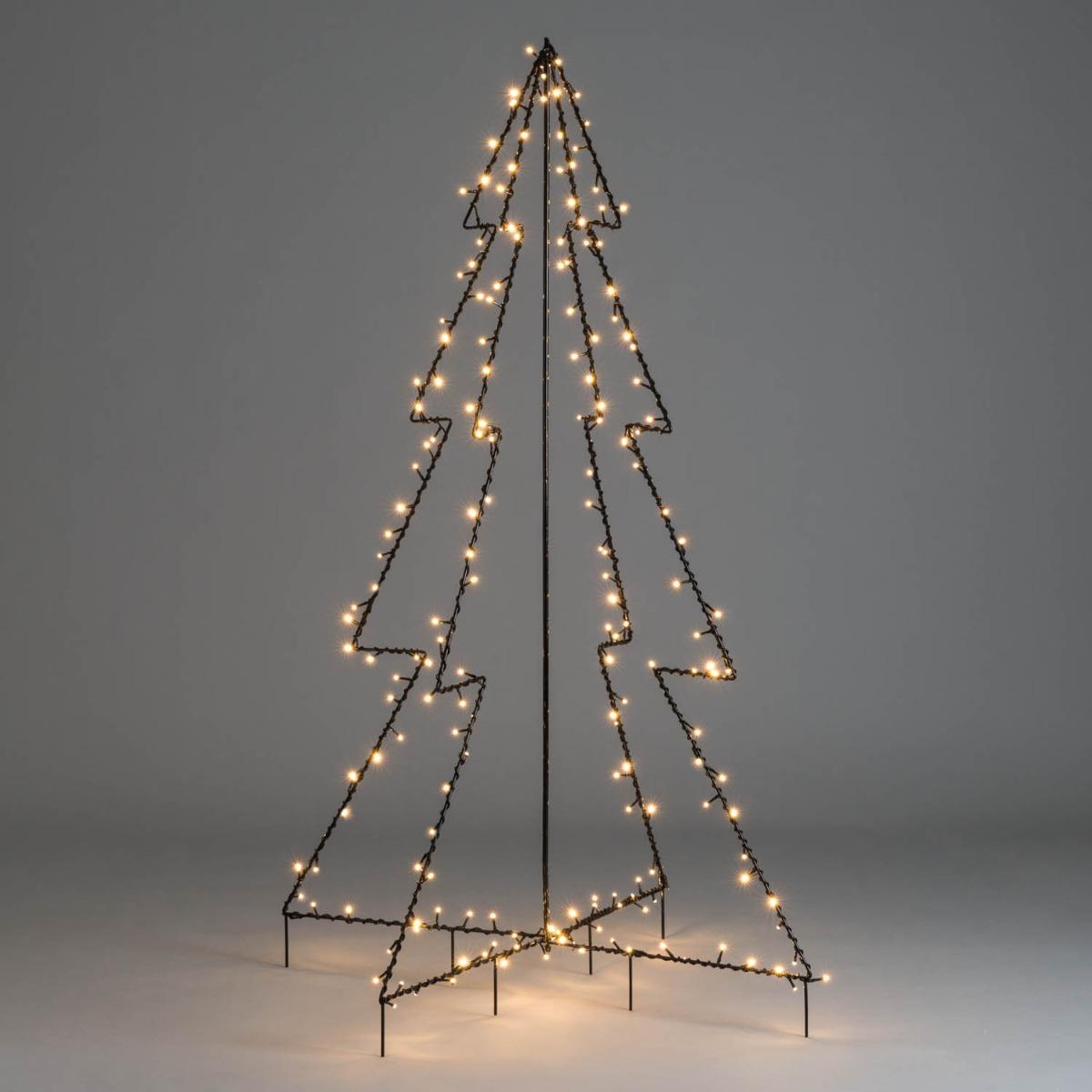 Image of Black Silhouette Christmas Tree 5ft