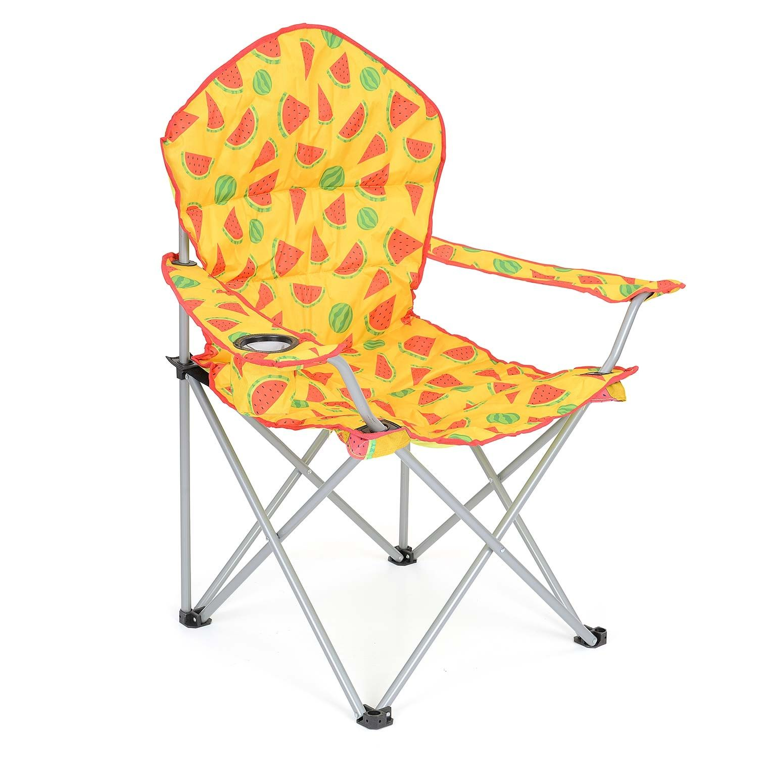 Carry Bag Polka Dot Festival Pattern High Back For Support Cup Holder Heavy Duty Frame Trail Padded Folding Camping Chair