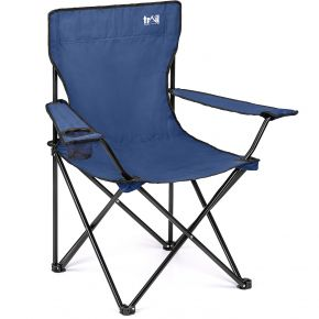 Trail Basic Folding Camp Chair With Cup Holder – Blue