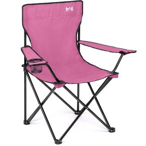 Trail Basic Folding Camp Chair With Cup Holder - Pink
