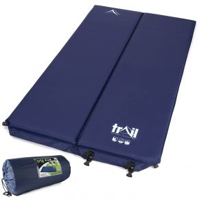 Blue 5cm Double Self-inflating Camping Mat