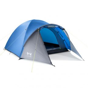 3 Man Tent Double Wall Skin Dome With Porch Three Person Camping Festival Trail
