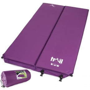 Purple 5cm Double Self-inflating Camping Mat