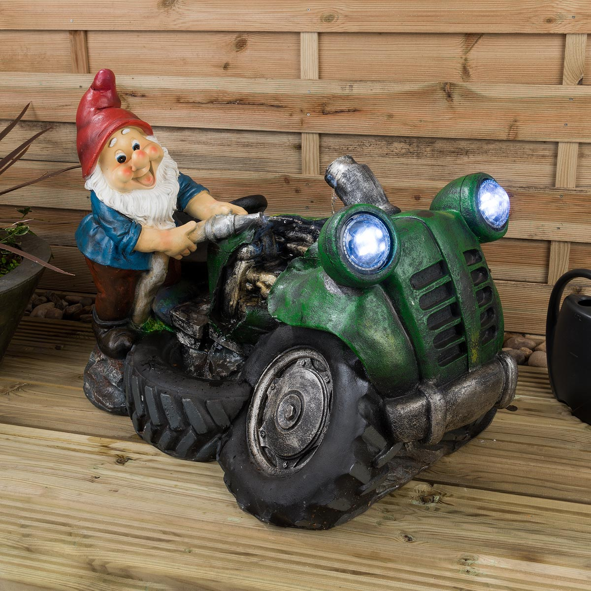 Image of LED Gnome Water Feature - Nigel