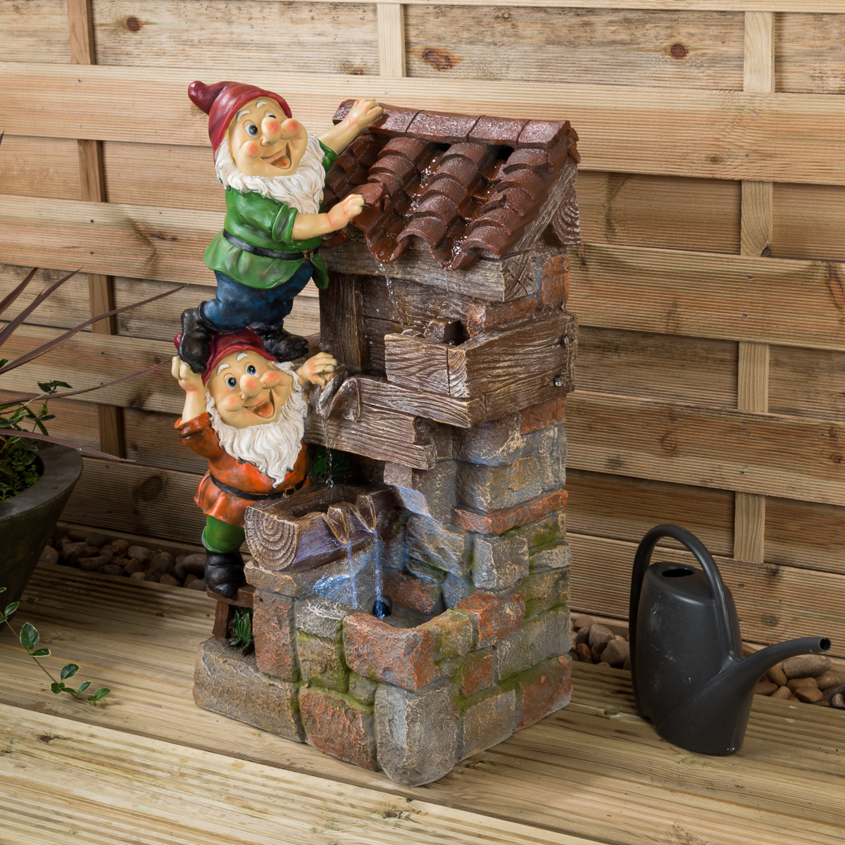 Image of LED Gnome Water Feature - Bill & Bob