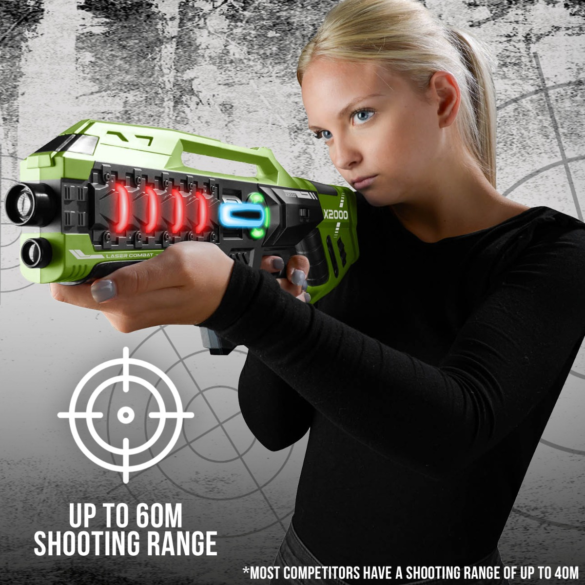 Laser-Tag-Game-Kids-Electronic-2-Blaster-Gun-Battle-Set-60m-Shooting-Range thumbnail 9
