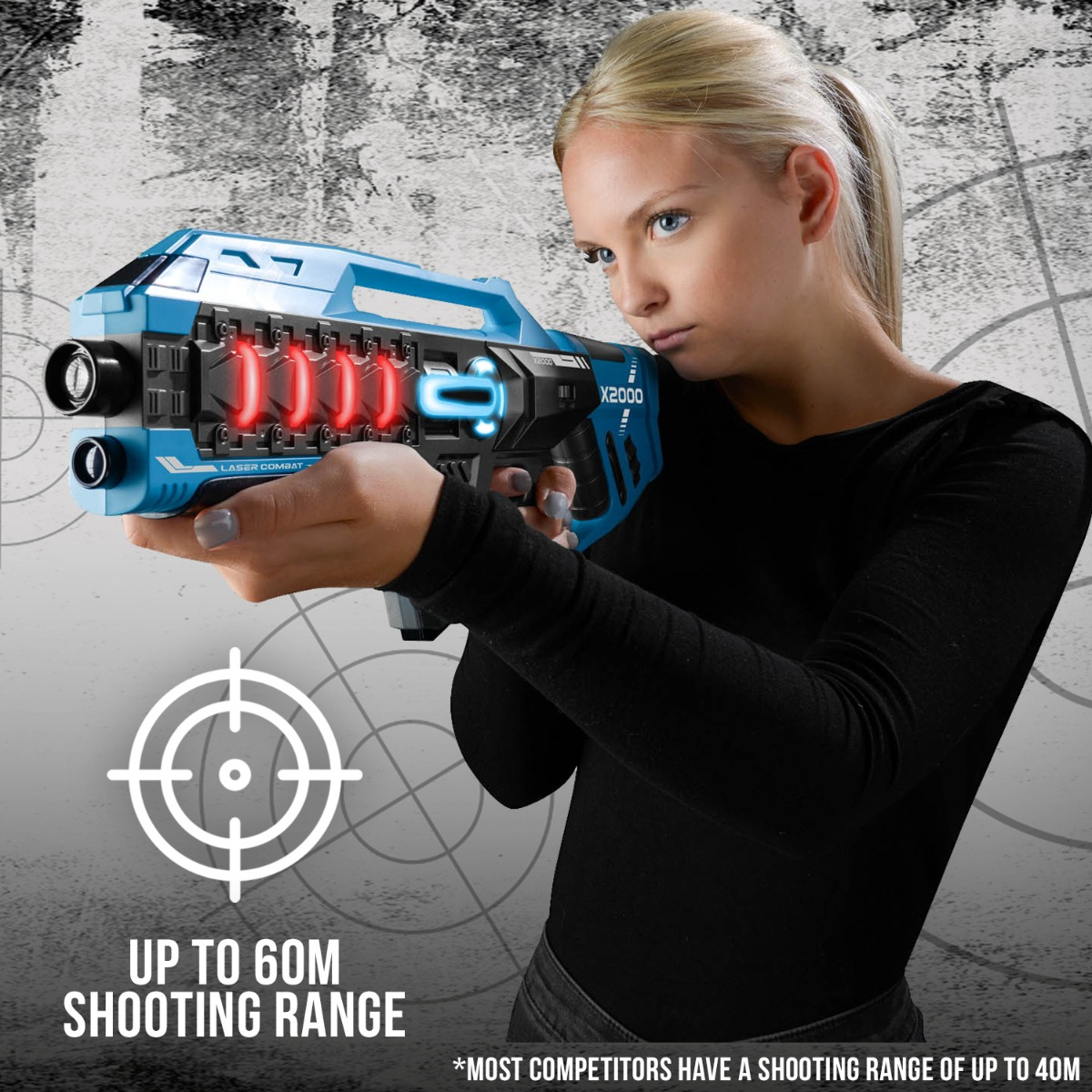 Laser-Tag-Game-Kids-Electronic-2-Blaster-Gun-Battle-Set-60m-Shooting-Range thumbnail 15